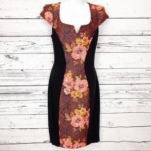 EVA FRANCO   black orange floral dress